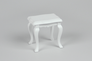 White Four-Legged Side Table