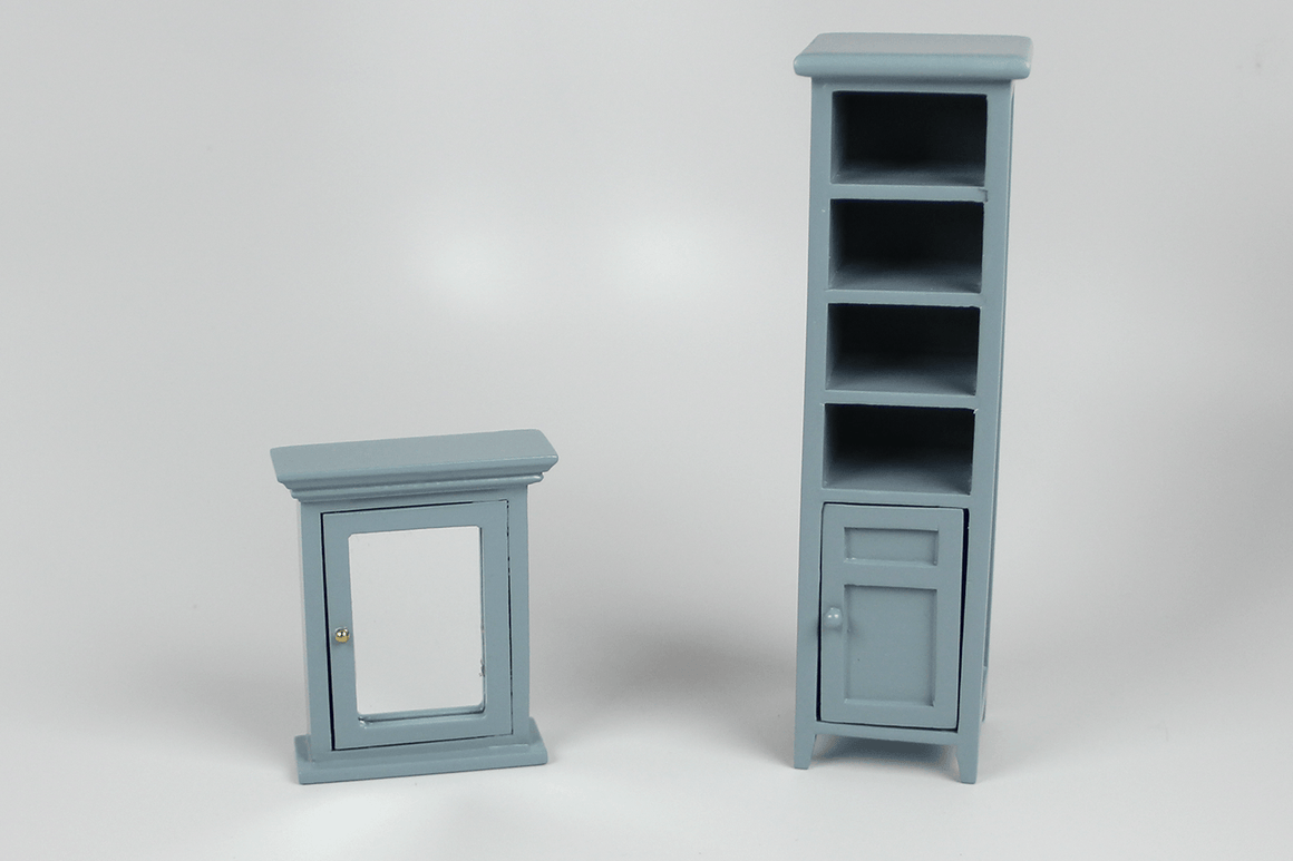 Bathroom Cabinet and Medicine Chest Set in Grey