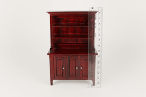 Mahogany Open Hutch with Doors