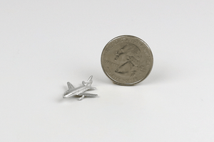 Silver Toy Airplane