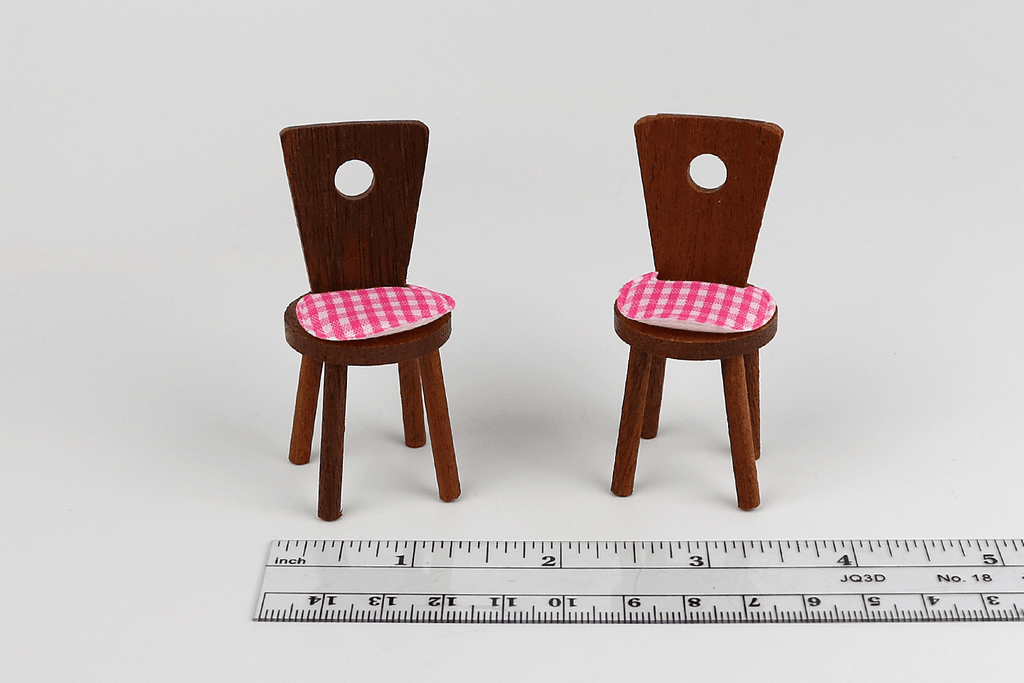 Cute Walnut Chair Set