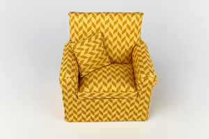 Gold Zig-Zag Diamond Chair