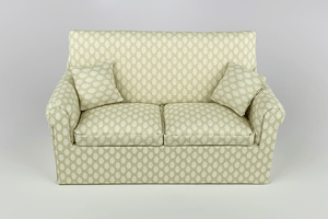 Cream with Pale Oval Pattern Couch