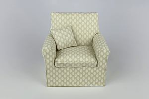 Cream with Pale Oval Pattern Chair