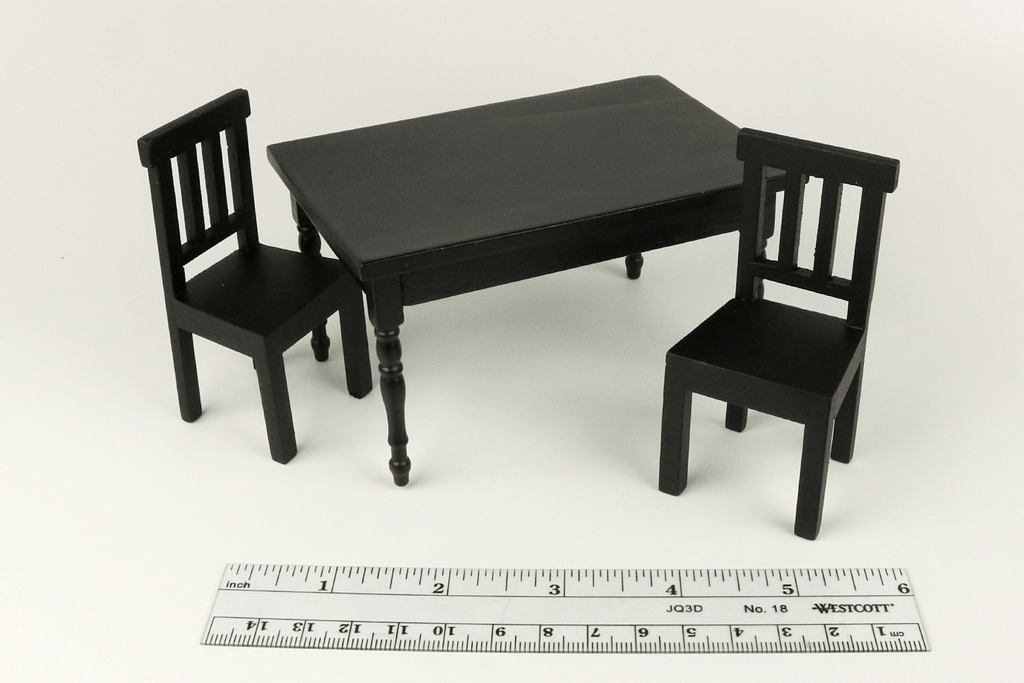 Modern Black Table and Chairs Set