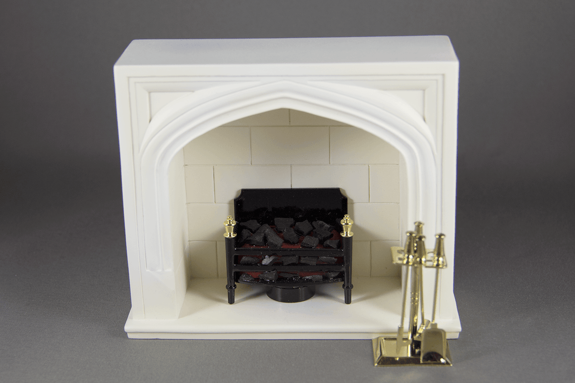 Fireplace with Battery Embers and Tools -  - Dollhouse Alley - 1