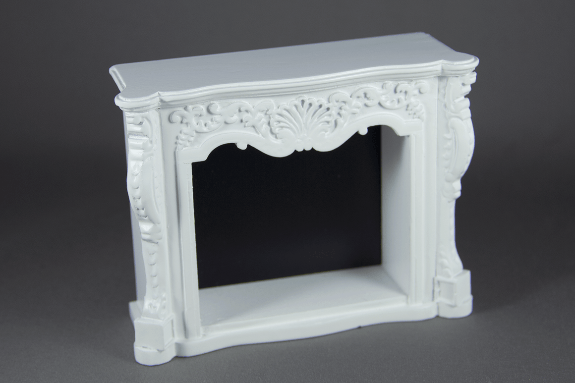 White Fireplace -  - Dollhouse Alley