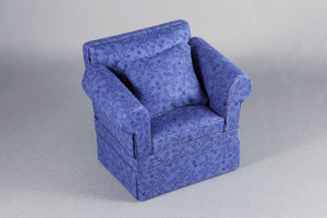 "Navy Blue ""Cara"" Chair"