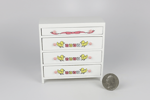 Decorated Nursery Chest of Drawers