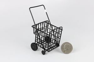 Black Metal Grocery Cart