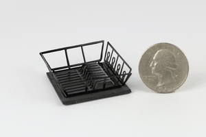 Dish Drain Rack in Black