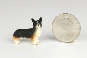 Half Scale Black Corgi