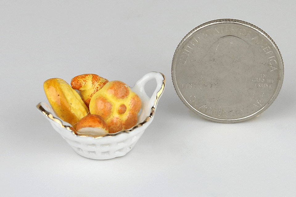 Ceramic Basket of Rolls
