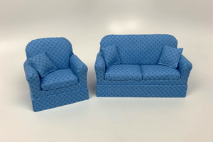Blue with Blue X Chair