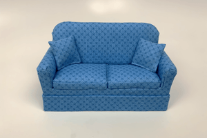 Blue with Blue X Couch