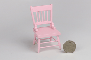 Painted Wooden Child's Chair in Pink