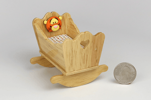 Oak Cradle with Tigger Emblem