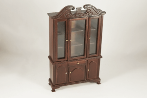 Colonial Revival Walnut Hutch -  - Dollhouse Alley