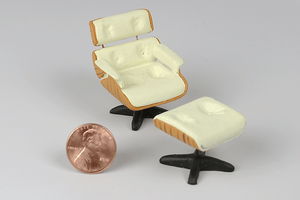 Half Scale Mid-Century Lounge Chair and Ottoman