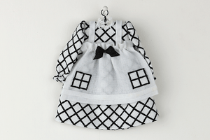 Black and White Dress with Pinafore