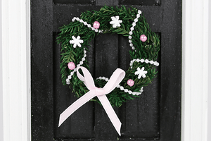 Wreath with Pink and White Accents