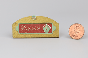 "Wooden ""Rejoice"" Sign"