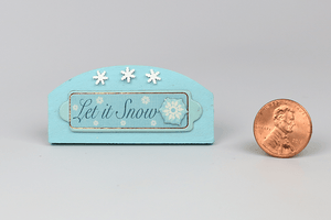 "Wooden ""Let It Snow"" Sign"