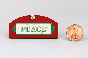 "Wooden ""Peace"" Sign"