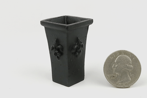 Squared Black Planter or Umbrella Stand
