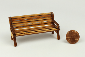 Half Scale Wooden Unfinished Park Bench
