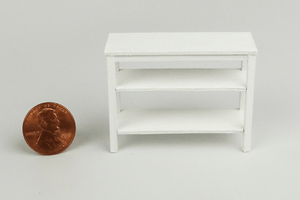 Half Scale Console Table in White