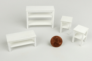 Half Scale End Table in White