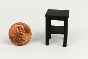 Half Scale End Table in Black