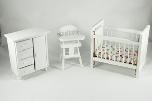 White Nursery Set -  - Dollhouse Alley - 1