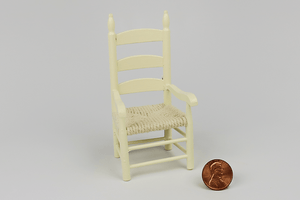 Woven Seat Ladderback Chair with Arms