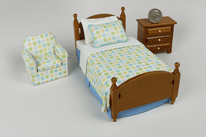 Cool Tile Print 3-Piece Bedroom Set