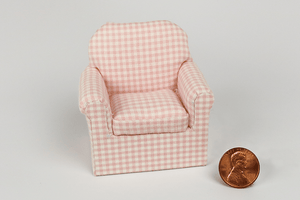Perfectly Pink Check Print Child's Chair