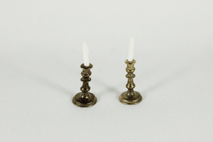 Antiqued Gold Candlesticks - 2