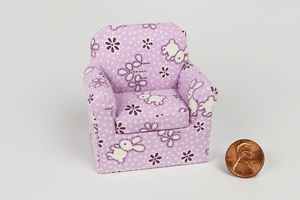 Purple Baby Bunnies Print Child's Chair
