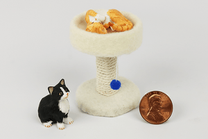 Round Cat Tower in Beige