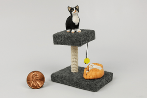 Square Cat Tower in Gray