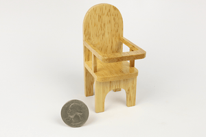 Simple Oak High Chair
