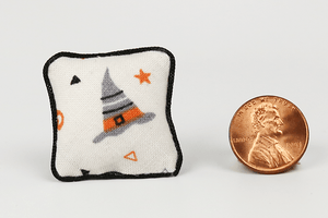 Halloween Pillow (Gray Hat)