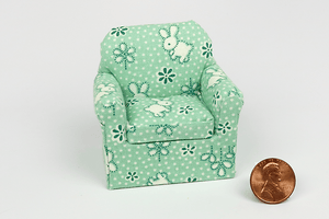 Green Baby Bunnies Print Child's Chair