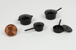 Black Metal Pots and Pans Set