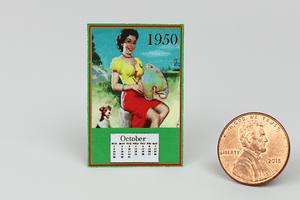 Old Fashioned 1950s Calendar