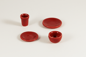 Red Place Setting - 1