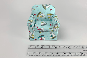 Soaring Sailboats Print Child's Chair