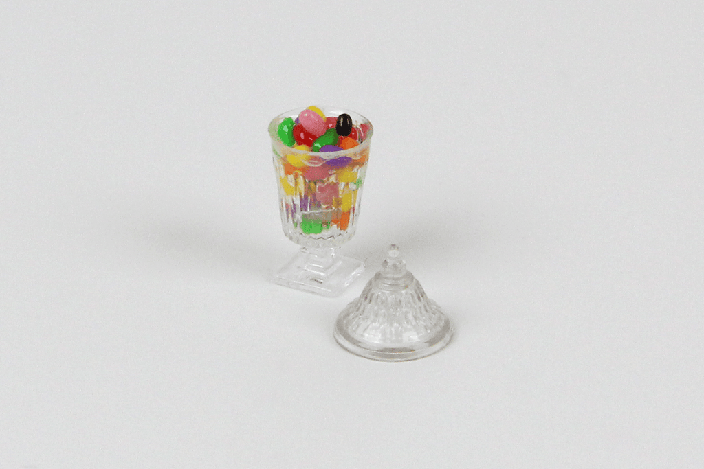 Jellybeans in Clear Dish
