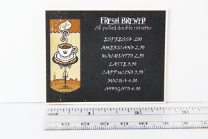 "Coffee Shop Sign - ""Fresh Brewed"""